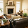 How to Decorate With a Leather Sofa and Fabric Chairs