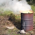 Homemade Backyard Incinerator