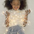 How to Tie Tulle Around Christmas Lights