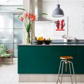 Turns Out Gray and Green Is a Stunning Kitchen Combo