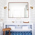 It's Hard Not to Fall in Love With Blue Bathroom Tiles, and We've Accepted That