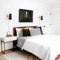 Unexpected Color Combinations Bring Depth to a Minimal Bedroom