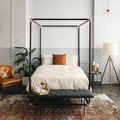 Tufted Furniture Adds a Layer of Sophistication to a Neutral Bedroom