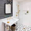 Patterned Tile Makes a Striking Statement in This Gorgeous Bathroom