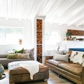 This Rustic Living Room Puts a Modern Spin on Country Style