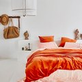 Sunset Hues Inspire a Charming Bedroom