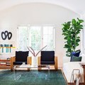 Green and Blue Make for an Ultra-Cool Living Room