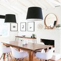 Black Pendant Lights Add Flair to a Modern Dining Room