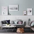 Your Living Room Should Have a Pastel and Gray Color Palette for Spring