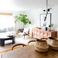 Natural Wood Furniture Looks Especially Chic Against This Opposing Hue