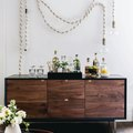 As Far as We Can Tell, a Credenza Is the Perfect Twist on a Bar Cart