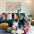 "Here's Why a ""Less Is More"" Approach Works So Well for a Cozy Living Room"