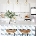 A Basic Kitchen Can Really Shine With One Easy Tiling Trick