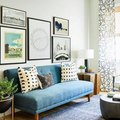 Varying Shades of Blue Make a Stunning Living Room Combination