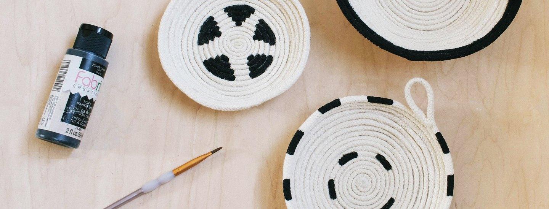 artisan inspired cotton rope bowl tutorial