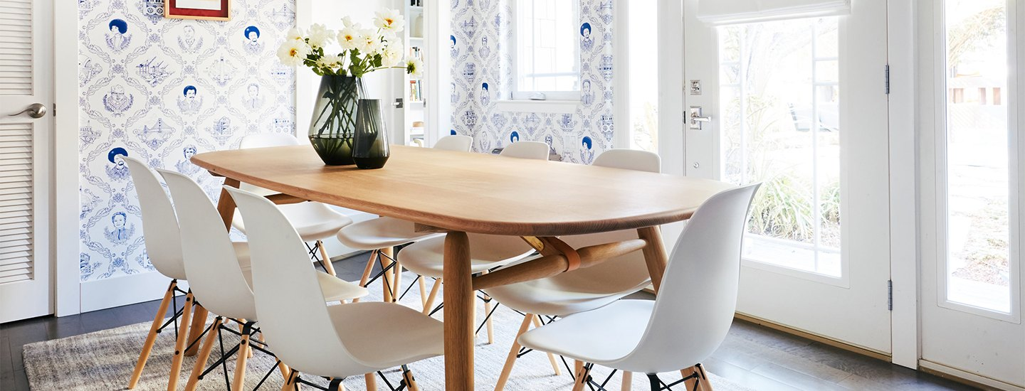 home tour of colorful San Francisco Victorian row house