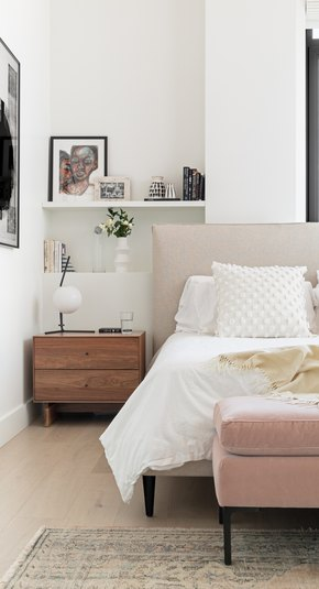 Millennial pink bedroom