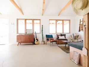 open concept living room in Joshua Tree home