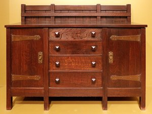 arts and crafts style furniture piece