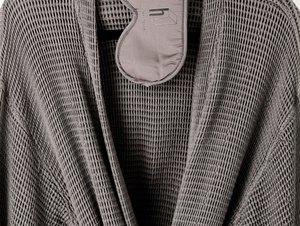 gray waffle texture bath robe