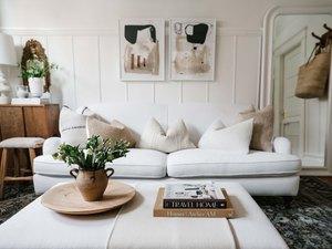 Caitlin Flemming's white living room