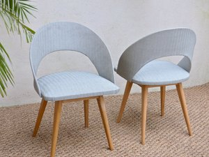 Pair of blue midcentury chairs