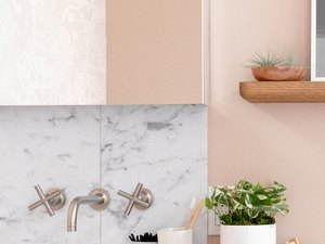 wall-mounted sink and wall-mounted faucet