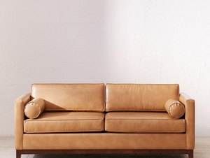 Urban outfitters petite leather couch