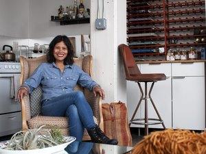 Marie Estrada of MÔTÔ in her Williamsburg loft