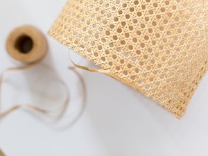 Cane lampshade DIY