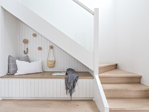 under the stair idea with Scandinavian reading nook