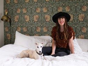 Sofia Draco at home with Bernike