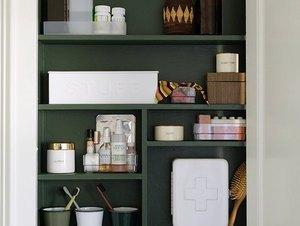 Medicine cabinet makeover DIY bathroom idea
