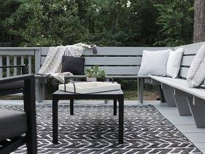 gray backyard deck