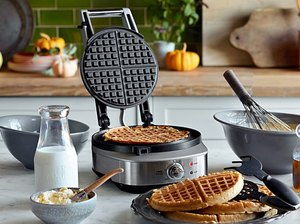 Breville No Mess Classic Waffle Maker kitchen appliance for summer
