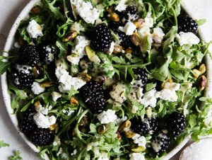 Blackberry Goat Cheese Salad by The Modern Proper