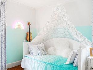 ombre color blocked wall paint ideas