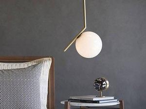 Hanging pendant in bedroom