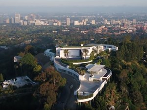 the one bel air mansion exterior view