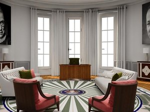 contemporary oval office designs