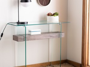 Console Tables for Small Spaces glass frame