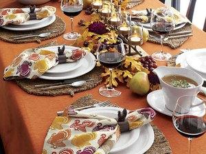 Crate & Barrel thanksgiving linens