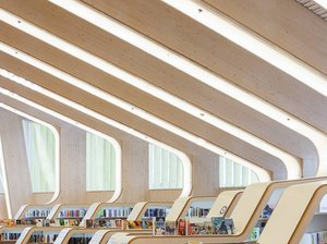interior picture of the vennesla library and culture house