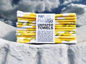 Marley's Monsters 24-Pack Unpaper Towels in lemon print