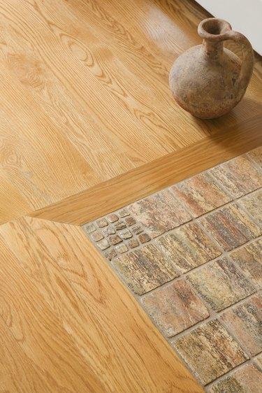 Hardwood and tile floor