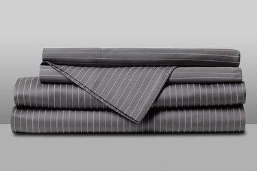 gray pinstripe sheet set