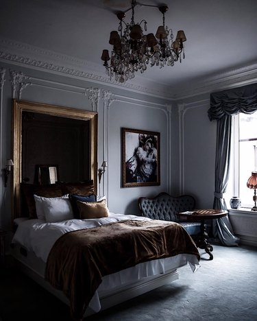 Victorian-inspired bedroom with elegant furnishings