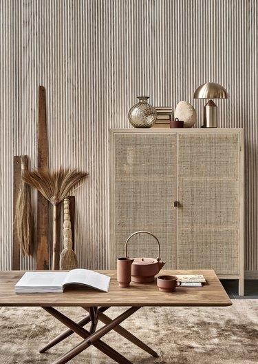 organic textures in wabi-sabi styling
