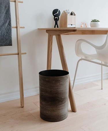 wood waste basket