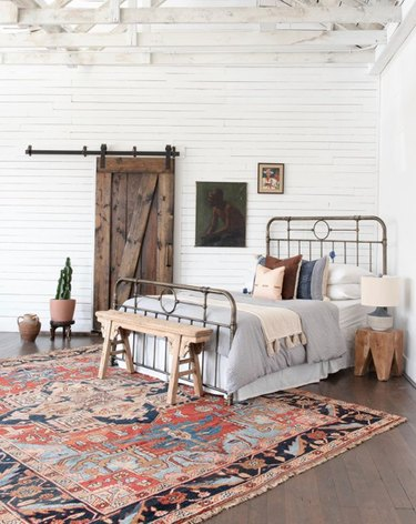 desert themed bedroom with farmhouse and desert themed bedroom